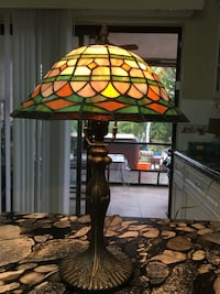 Tiffany style colorful stained glass table lamp Tamarac, 33321