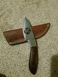 brown pocketknife with sheath Richardson, 75081