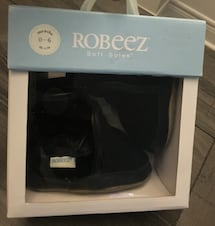 Robeez Cozy Baby Ankle Boots Black Soft Soles (0-3mo)