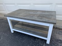 Reclaimed Weathered Gray and White Coffee Table