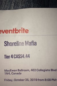 Shoreline mafia ticket Airdrie, T4B 1Y8