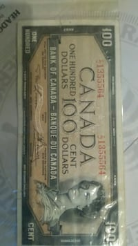 100 Dollar Canadian Bank Note 1954 Division No. 11, T4X 0T1