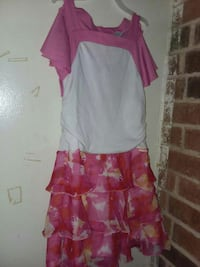 white and pink sleeveless floral dress Pleasant Hill, 71065