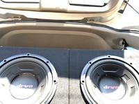 Subwoofers and amp  Rancho Cordova, 95670