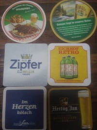 Twelve European Beer Coasters PURCELLVILLE
