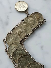"Mexican Coin Bracelet, clip on, 8.5"" length Airdrie, T4B 0E4"