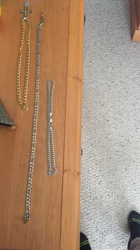 Silver and gold chains with cross pendent New Tecumseth, L9R