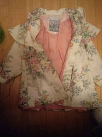 white and pink floral coat Covington, 41011