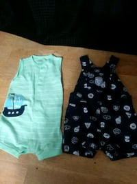 Baby boy Romper and overall set 6 months