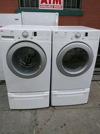 LG front load washer and gas dryer set