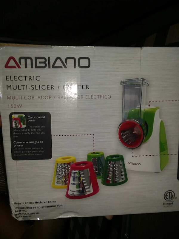 Ambiano electric multi-slicer/grater box