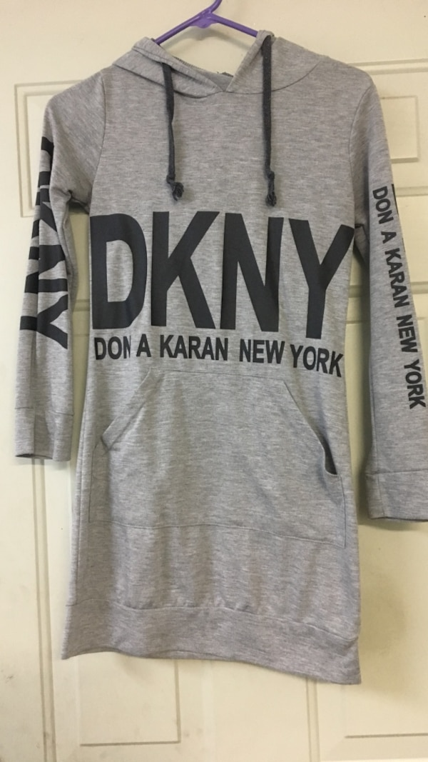 00653b2b7e47 Used grey and black don a karan new york pullover hoodie for sale in ...