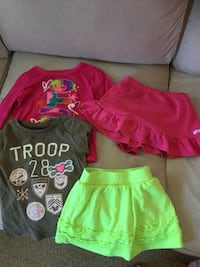 Baby girl tops and skirts 24m