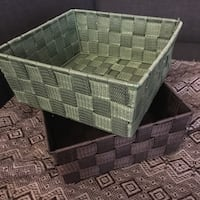 Basket green and brown perfect condition Toronto, M3C