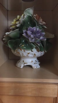 white and purple ceramic flower vase Surrey, V3V 4P6