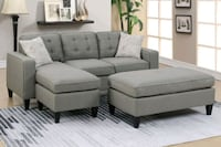 gray fabric sectional sofa with throw pillows Perris, 92571