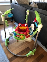 e8e47b67d249 Used Fisher Price Rainforest Jumperoo Bouncer for sale in New York ...