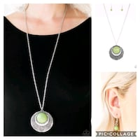 Medallion Meadow green necklace