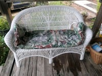Wicker couch w/cushion Vancleave, 39565