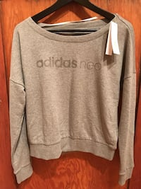 XS Grey Adidas sweatshirt