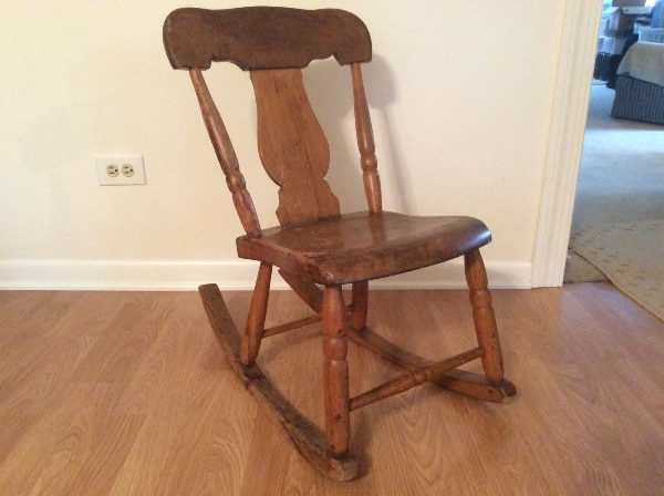 Antique Rocking Chair Antique Sewing Nursing Rocker Low Armless Wooden  Victorian Queen Anne Style Pennsylvania Americana Fiddleback Sewing Nursing  ...