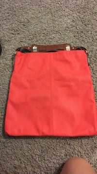 red and black leather crossbody bag Marrero, 70072