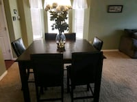 8 chair wood mosaic table Parker, 80134