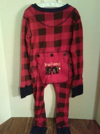 CHILD'S LAZY ONE CHRISTMAS PLAID ONESIE Oshawa, L1J 4Z3
