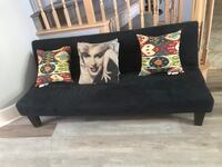 black leather sofa with throw pillows Palmdale, 93550