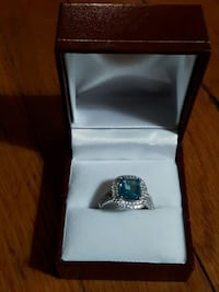 rings blue topaz