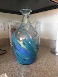 blue and clear glass vase Frederick, 21703