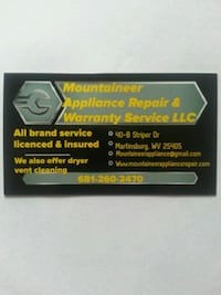 appliance repair service Martinsburg, 25401