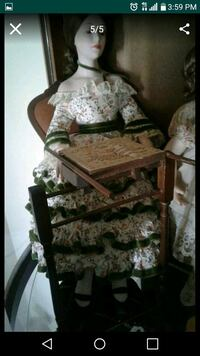 brown and green floral armchair Kissimmee, 34747