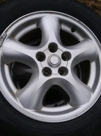 SET OF ( 4 ) 16 INCH RIMS AND TIRES  5 X 114  Durham, 06422