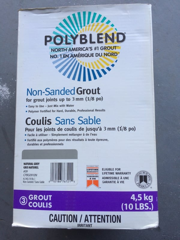 Tile Grout Sanded Unsanded Polyblend Retail it is $44 per box 95140d6a-112a-4c32-b8fd-68ae92f5d4bc