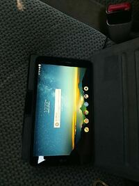 black tablet computer