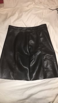 Women's black leather miniskirt North Vancouver, V7K