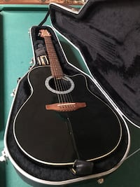 Ovation 1612 standard balladeer acoustic/electric guitar 7829 km