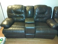 Leather Love Seat and Sofa $75.  Mini fridge $30. Portage, 46368