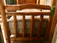 Rustic custom Wood Canopy bed queen/full (negotiable) Aderondeck log cabin style  Bellmore, 11710