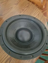 round black and gray subwoofer Lenoir, 28645