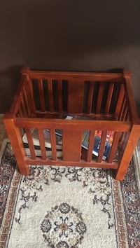 brown wooden crib Champlin, 55316