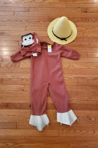 Curious George toddler costume  53 km