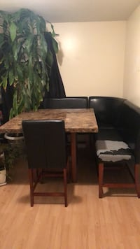 black wooden table with chairs Brantford, N3S 2T6