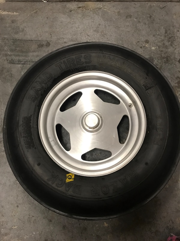 2 front Sand rail wheels $ tires spindle