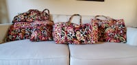 Vera Bradley Set of 4 A+ Condition Bags Diaper Beach Travel Purse