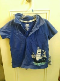 Blue Nautical Shorts Outfit Boys Toddler