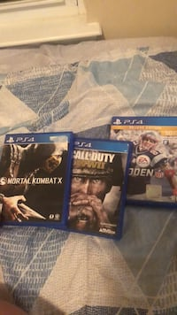 two PS4 game cases and one PS4 game case Kannapolis, 28036