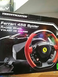 black and red Ferrari 458 Spider racing wheel box Markham, L3T 5V1