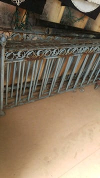 brown and white wooden bed frame St. Louis, 63123